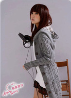 New Arrival Fashion Casual Classical Sweater Korean Spring Check Acrylic Women Ctton Coats