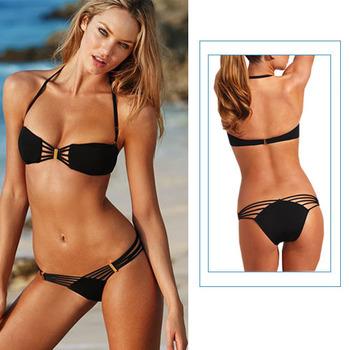 Hot Selling Black Design Sexy Women's Swimsuit Swimwear Beachwear Bikini Set beach tankini YY006