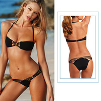 Hot Selling Black Design Sexy Women's Swimsuit Swimwear Beachwear Bikini Set beach tankini YY006
