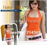 Summer plus size from XS to XXL basic spaghetti strap top sexy halter-neck 100% halter-neck cotton vest female spaghetti strap