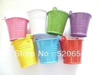 free shipping mini wedding tin candy buckets wedding pails wedding favor metal bucket candy box