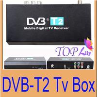 1Pcs/lot Mobile Digital Car DVB-T2 DVB-T T2 H.264 MPEG4 HD&HDMI Output External Tuner 40km/h Max Digital TV Receiver Set Top Box