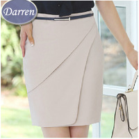 Autumn New Arrival Career Slim Hip Bust Skirt 3 Color High Waist Straight Skirt Women's Fashion 2014