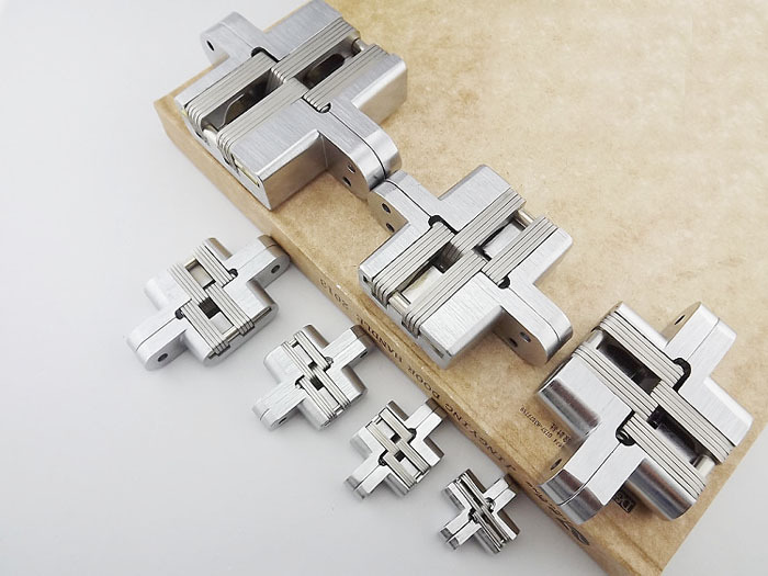 Stainless Steel Door Hinge New Stock With Screws Concealed Invisible(China (Mainland))