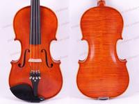 Free Shipping 4/4 Violin Ebony parts Flame Maple Back Antique Varnish Spruce Master Work Powerful Sound Pro+