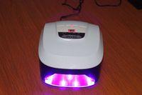 Promotion !!!  2 pcs/ lot 45 watts LED-1 Nail UV Lamp , 5 watts X 9 pcs led bulbs , only European plug , 220v-250v