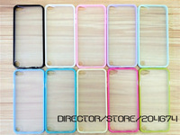 DIRECTOR Freeshipping 30pcs/lot Semi Clear PC + TPU Plastic Bumper Case for iPhone 5,