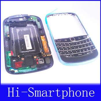 New Original Black OEM full Housing Case Cover + Keypad Replacement For Blackberry Bold 9900