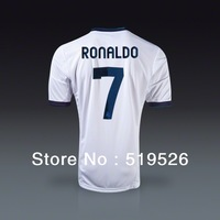 12/13 seasons Thailand top quality Real Madrid home white soccer jersey football uniforms kit ronaldo Wait All-Star numbers