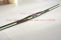 New Color 3k Carbon Bicycle flat /Riser Handlebar MTB Cycling Handle Bar 31.8x600/620/640/660MM Green wcs