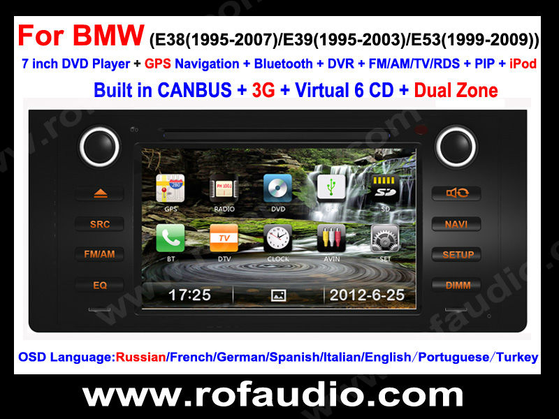 Special Car video / Car radio / Car stereo for BMW E39 E3 E53 X5 , Free Shipping(China (Mainland))