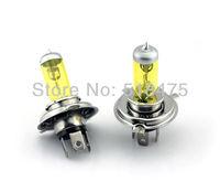 New free shipping H4 12V 55W Halogen bulb 2 Pcs yellow tube