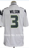 Russell Wilson #3 Game Football Jersey,American Football Jersey,Authentic Jersey,Embroidery Logos,Size M--3XL,Free Shipping