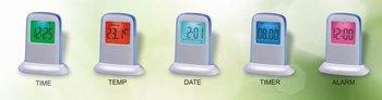 Push Panel Colour changing digital alarm clock