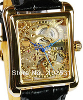 Hot Sell Fashion & Luxury Brand Automatic Classic Gold Skeleton Men's Hand Watch