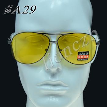 Polarized UV Sunglasses Night Vision Driving Fishing Glasses Yellow lens A29#    6202