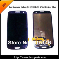 High quality  100% guarantee For Samsung Galaxy S3 i9300 i747 T999 LCD with Touch Screen Digitizer Assembly- Blue Free shipping