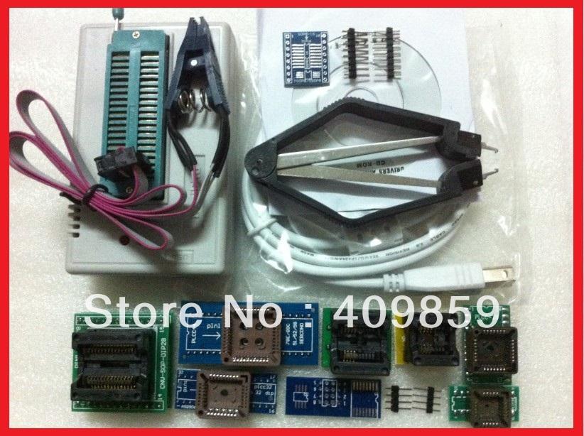 Free Shipping! Russian Manual V6.0 MiniPro TL866CS USB Universal Programmer/Bios Programmer 13143+11items +IC Clamp SOIC8(China (Mainland))