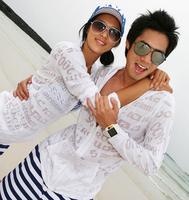 Summer men women long sleeve tops Anti-UV beach clothes lovers outerwear transparent air conditioning shirt sunscreen clothing