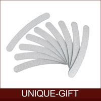 Rosalind Free Shipping 10pcs/lot 100/180 Acrylic UV Gel Curved Mail Nail File Buffer Buffing Manicure Set