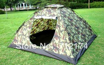 Free shipping  Folding Tent 3-4 Person Four Seasons Fiberglass Outdoor Camping