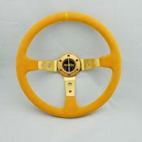 SPAC-momo Yellow Racing   steering  wheel high quality