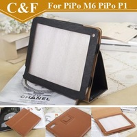 1pcs Freeshipping For Pipo M6 standable PU leathere tablet case