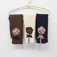 5 Sizes/Lot 2014 Free shipping children's clothing wholesale 2014 spring girls flower Leggings((GCK-075))