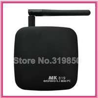 free shipping Latest Android 4.2.2 RK3066 Dual Core A9 smart tv box MK819 google table mini pc MK808II hdd game player UG007