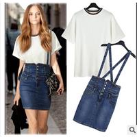 2014 Summer Fashion Designer Slim Mini Jeans Skirts For Girl, Straight Mini Jeans Skirts Women D2