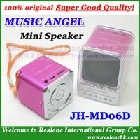 4pcs wholesale speaker Speaker for MP3/phone MUSIC ANGEL MD06D mini portable speaker+TF card speaker+TF reader