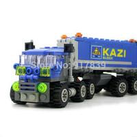 Best selling Enlighten Child 6409 Dumper Truck 163PCS Compatible Assembles Particles Block Toy bricks  Free shipping 1 pcs