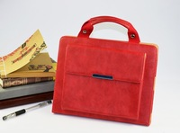2013 Newest Hot selling  handbag shape leather case For Ipadmini Simple and Fashion Leather Case  Free Shipping