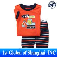 New 2013 Wholesale 6 sets/lot Children Cotton clothes set  Kids Cartoon pajamas for children