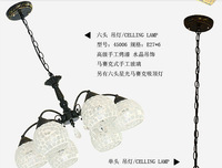 FREE SHIPPING EMS Mediterranean Mosaic chandeliers European classical pendant lamp and lanterns
