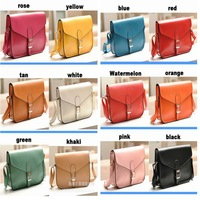 high quality pu leather 11color hasp messenger bag crossbody bags for  women's handbag  Shoulder bag  tote bag free shipping