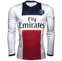 Top thailand 13/14 Paris Saint-Germain long sleeve soccer jerseys PSG home away LS football shirts Ibrahimovic soccer uniforms