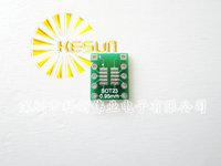 FREE SHIPPING 100PCS SOT23 / SOP10 MSOP10 UMAX10 turn DIP10 0.5MM 0.95MM Pitch  IC adapter Socket / Adapter plate / PCB PB-FREE