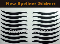 Hot sale! 4000pairs (8 pairs on one sheet) Flicker Tattoo Makeup Black Eyeliner Stickers Eyeliner tapes
