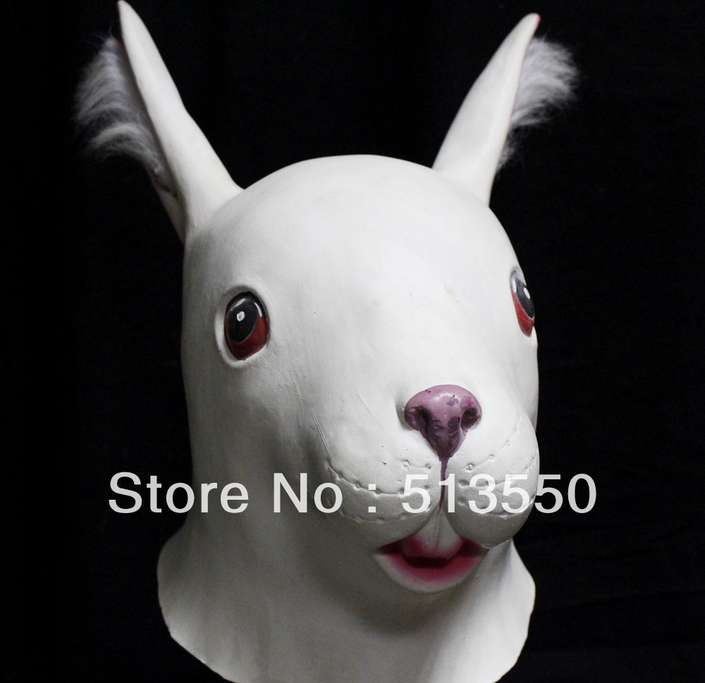 Head halloween party fancy dress props bunny mask china mainland