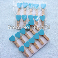600 Blue Valentine Love Heart Wooden Pegs Paperclips for Home Wedding Decor|Gift wrapping Packaging | any Craft projects 1241