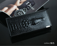 Hot selling  Genuine leather +Patent leather alligator/crocodile style women wallet (WG02)