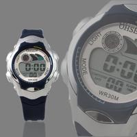 OHSEN New Dark Blue Digital Girls Boys Kids Sport Watch Waterproof  LED Alarm Light 0520-2