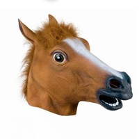 2014 new year latex horse mask Halloween costume novelty christmas gift carnival animal head masquerade prop free shipping