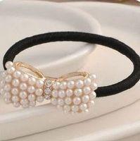 2014 Brand Design Fashion Korean beautiful Noble Elegant Delicate Pearl bowknot hair band Hair Accessories women wholesale PT37