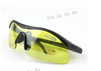 Yellow color cool Men's  Sunglasses military glasses sport Glasses bike glasses free shipping