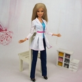 Free Shipping Fashion Dress Party  Clothes white Outfit coat  for Barbie Doll(China (Mainland))