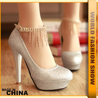 2013 new arrival fashion high heels platform pumps closed toe high quality womens wedding shoes JHH111