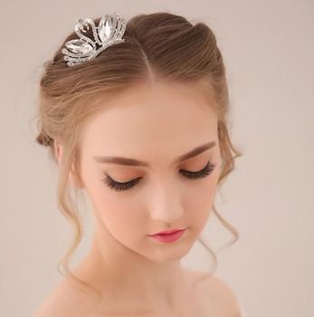 Rhinestone Small Tiara Crown Comb Bride Quinceanera Wedding Crowns Pageant Hair Jewelry Accessories 5 Design WIGO0101