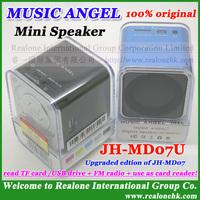 10pcs Free shipping MUSIC ANGEL speaker JH-MD07U read TFcard/USB drive,with FM+TFcard reader+original COOL quality+Wholesale